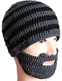 Homme hiver tricot au Crochet pour barbe et moustache Bonnet