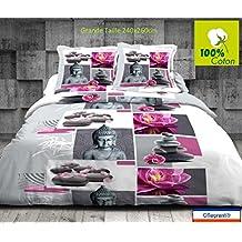 Amazonfr Housse Couette Zen 260x240 Multicolore
