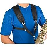 ProTec A306M Universal Saxophon-Gurt mit Metallschnalle, groß, Schwarz