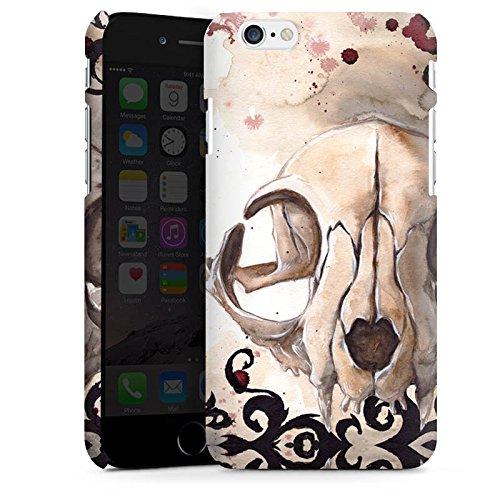 Apple iPhone X Silikon Hülle Case Schutzhülle Katzenschädel Totenkopf Katze Premium Case matt