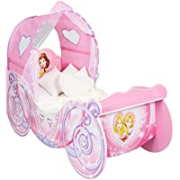 Disney Princess Carriage Kids Toddler Bed with LED Lights by HelloHome