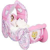 Disney 454DSN - Cama Infantil con diseño de Princesas, Madera, Rosa, 160x87.5x136 cm