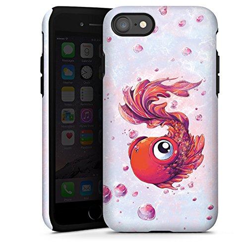 Apple iPhone X Silikon Hülle Case Schutzhülle Fisch Goldfisch Comic Tough Case glänzend