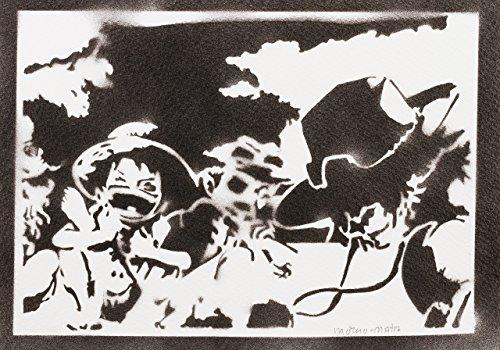 One Piece Luffy Ace Und Sabo Handmade Street Art - Artwork - (Figur Kostüme Film Action)