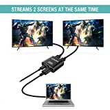HDMI Splitter 4K, Techole Two Way HDMI Splitter 1 In 2 Out, Aluminum Powered HDMI Switch Distributor Amplifier Over 1.4 HDCP Bypass, Supports 3D 4K Full HD 1080P for PS4 Xbox One Sky Box Fire Stick,Blu-ray Player HDTV Projector Apple TV HDTV