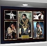 SGH SERVICES Michael Jackson dédicacée encadrée Impression Photo Poster Encadré