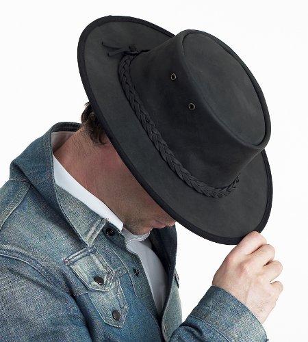 d23fe2e4a3b45 Australiano Bronco Barmah plegable con un sombrero - negro (1060) patrones  e instrucciones para