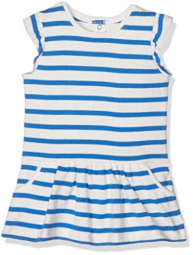Petit Bateau Baby-Mädchen Kleider Robe MC_22084, Mehrfarbig (Lait/Delft 38), 68 (Herstellergröße: 6m/67cm) (Jersey Kurze Robe)