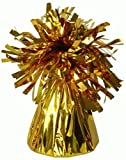 12 X helium balloon weights GOLD foil tassle cone