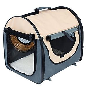 WOLTU® Faltbare Hundebox Transportbox Kleintier Reisebox S 46*36*41cm Hunde Katze HT2079gr1