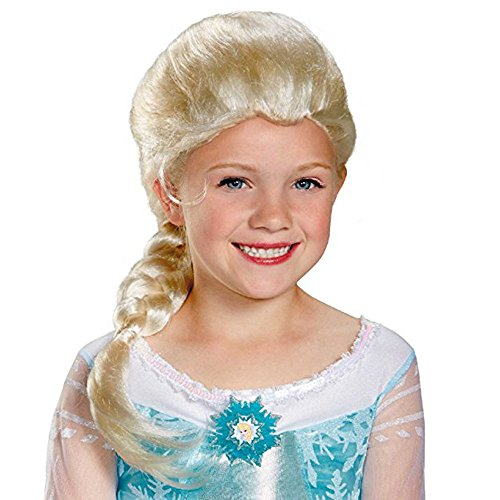 Amphia - Cosplay perücke Gefrorene Puppe ELSA Anna Schnee Prinzessin Serie Anime Blonde Haare - Schnee Weißes Kind Kostüm Perücke