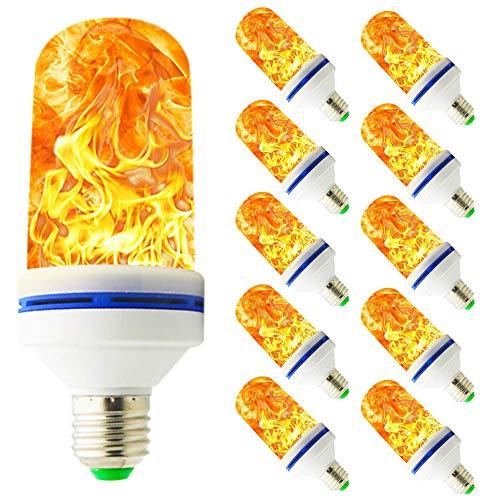 10 Pack LED Flamme Glühbirne E27 Birne Feuer Lampen, Effekt Glühbirne mit Mehrere Modi, Flammendes Licht für Bar Festival Urlaub Party Dekor - Mehrere Bar
