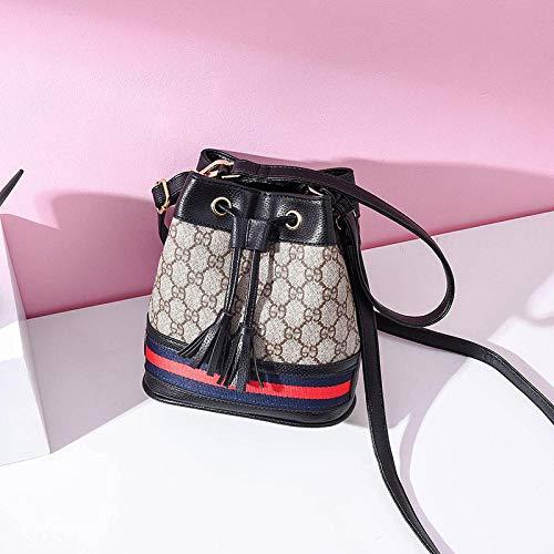 YZJLQML DamentaschenEinfache und Elegante Umhängetasche Beuteltasche Umhängetasche @ Black