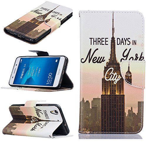 Huawei Y6 II / Honor 5A Cover Case Custodia,Huawei Y6 II / Honor 5A Cover Flip,Huawei Y6 II / Honor 5A Custodia Pelle,Cozy Hut ® Elegante Morbido Soft PU Leather Pelle Slim Flip Stand Stare in Piedi Wallet Portafogilo Card Slot Supporto Magnetica Chiusura Protettivo Anti-Shock Shell Case Bumper Caso Coperture per Huawei Y6 II / Honor 5A - torretta della trasmissione - Trasmissione Stand