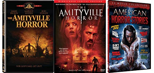 Real American Horror Movie Set (DVD) The Amityville Horror (1979)/ The Amityville Horror (2005) + Bonus 12 Movie Collection American Horror Stories (14 Movie Set)