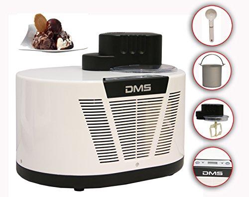 DMS® Eismaschine mit Kompressor 1L Speiseeismaschine Eiscrememaschine Ice cream maker ECM-150W