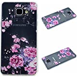 Qiaogle Téléphone Coque - Soft TPU Silicone Housse Coque Etui Case Cover pour Samsung Galaxy A3 (2016) / A3 (2016) Duos / A3100 (4.7 Pouce) - QI02 / Pink Rose