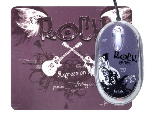 Saitek Expression Maus mit pad (800dpi, USB 2.0) Rock Chick -