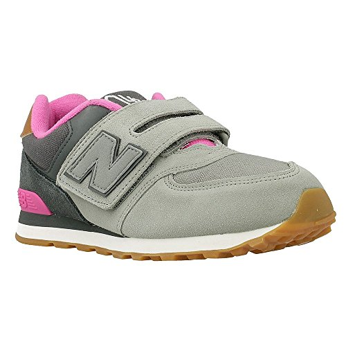 NEW BALANCE KG574 NHY gris fille rose baskets ripping 30.5