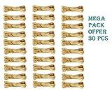 #5: Pressed Dog Bone, Mini (2-inch x 30 Pieces) Mega Pack