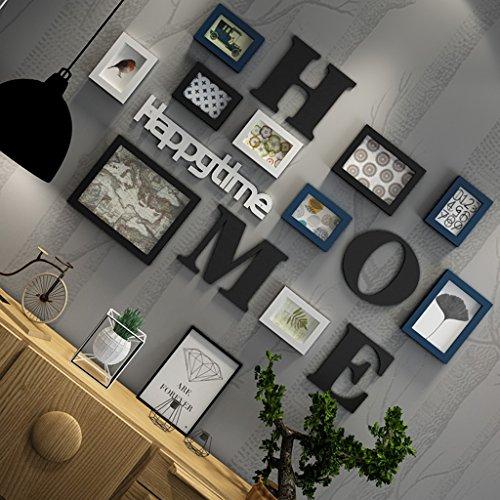 Cadres photo Solid Wood Photo Mur Combinaison Salon Chambre Modernité Minimaliste Murale Européenne créative Restaurant Enfants Photo Murale (Color : B)