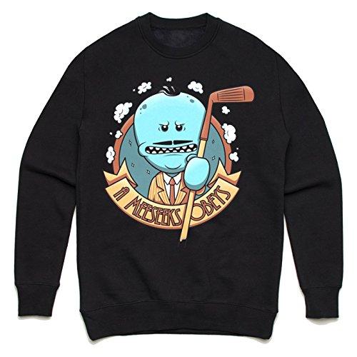 A Meeseeks obeys Unisex Sweater Schwarz