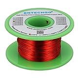 """BNTECHGO 24 AWG Fil magnétique en cuivre émaillé à souder Rouge 10,2 g 0,0221"""" de diamètre nominale 155°C"""