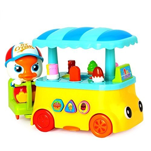 HALO NATION Goosey Gander Icecream Cart - Imported Colorful Rotating Truck With Amazing Sounds for Baby / Kids