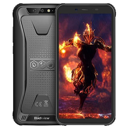 Blackview BV5500 Outdoor Smartphone Ohne Vertrag, Rugged Smartphone 5.5 Zoll mit IP68 Wasserdicht, 4400mAh Batterie, 2GB RAM+16GB interner Speicher, Android 8.1 System mit WiFi GPS Kompass Schwarz