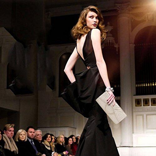 Frizione borsa da donna del pacchetto afflusso di donne del messaggero della borsa della borsa banchetto falso / finto / borsa da sera in pelle artificiale versione coreana ( Colore : Classic Black ) Charm Red