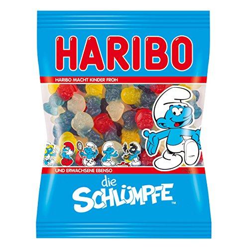 Haribo Schlümpfe, Gummibärchen, Weingummi, Fruchtgummi, Vegetarisch, Im Beutel, Tüte, 200 g