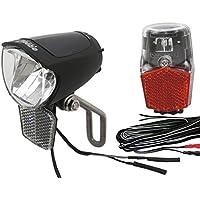 BDCP Lampenset 75 SL Steady Büchel FL-12 Rücklicht mit Standlicht & Kabel für Nabendynamo StVZO zugelassen
