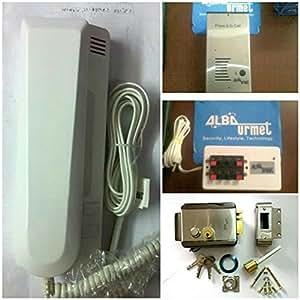 Alba Urmet Audio Door Phone Kit (Outdoor Box+Indoor Handset+Lock)