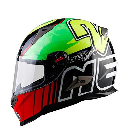 Casco Modulare Moto Crash High Safety-NENKI Casco Integrale da Motociclista con Visiera Parasole per Uomo Adulto Donna,XL