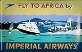 Blechschild Imperial Airways Wasserflugzeug Wasserlandung Flugzeug Schild Nostalgie retro