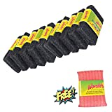 #4: Wonder Super Tough Scrub Pad Heavy Duty Large (Pack of 10) and Cleaner Mesh Worth Rs.42 (Pack of 1) for Free Super Saver Pack