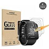 (Lot de 4) Protection d'écran en verre trempé pour Garmin Forerunner 35montre GPS de course, Akwox [0.3mm 2.5d 9H] Premium Effacer film de protection d'écran pour Garmin Forerunner 35