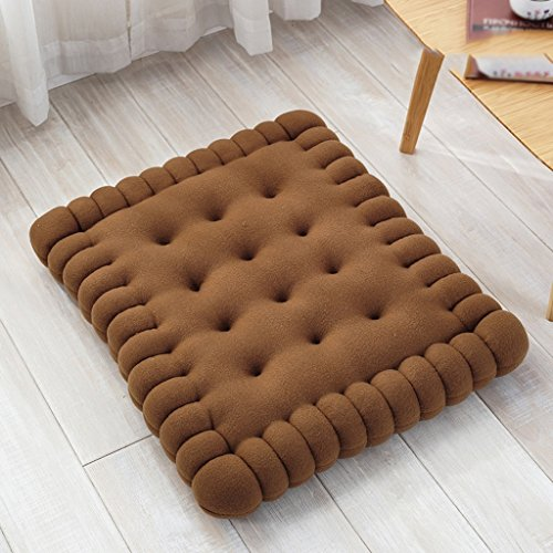 Coussin LINGZHIGAN Biscuits créatifs Chaise de Bureau d'ordinateur étudiants Plus épais Oreiller d'hiver (Taille : 50 * 60cm)