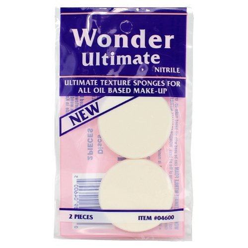 (6 Pack) Wonder Ultimate Texture Sponges For All Oil Based Make-Up Round - 2 Pieces