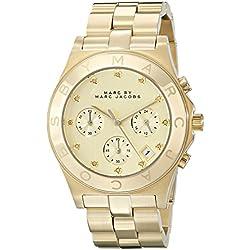 Marc Jacobs MBM3101 - Reloj para mujer con correa de acero, color dorado / gris