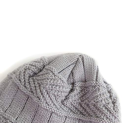 Imagen de oyfel sombrero de punto bufanda de invierno de nieve gorros caliente caza calido orejas christmas navidad bufanda 19cm * 19cm, sombrero 19 * 19cm para ninos ninas bebe 1 8 anos alternativa