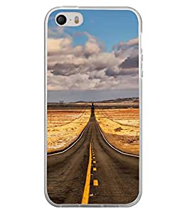 ifasho Designer Back Case Cover for Apple iPhone 5S (Road Scenary Bogota Colombia Vadodara)
