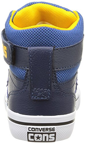 Converse Herren, , pro blaze hi strap leather, blau (nighttime navy/blue jay/yellow) Blu