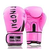 LBAFS Pro Boxhandschuhe Muay Thai Kick Boxing Trainingshandschuhe Boxsack Kampf Kampf Sparring Punching Mitts Für Erwachsene und Kinder (Unisex),Pink-8oz(Kids)