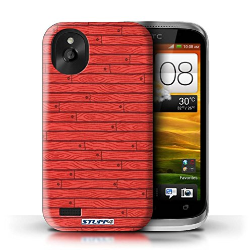 Kobalt® Imprimé Etui / Coque pour HTC Desire X / Vert conception / Série Motif Bois Rouge