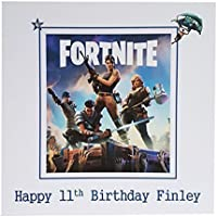 HANDMADE CARDS BY KD, FORTNITE PERSONALISED BIRTHDAY CARD - Handmade PS4, XBOX ONE, PC game fan milestone birthday card. Choose your own name and age to personalise to make a unique greeting card. Great personalised gift card to celebrate any Birthday. Ideal card to send to any Fortnite gaming fan. Playstaion, PS4, Sony, Xbox One, Window Gaming PC, Apple Mac Gaming. Kids Happy Birthday card. FREE POSTAGE