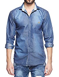 Fasnoya Men's Casual Denim Shirt