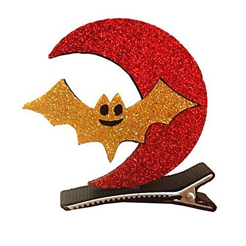 Zantec Kinder Lustige Cosplay Dekor Halloween Party Dress up Stereo Barrette Fledermaus Kürbis Hexe Cap Haar Clip