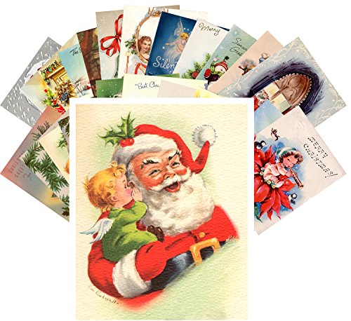 Postcard Pack 24pcs Vintage Christmas Greeting Cards REPRINT from originals