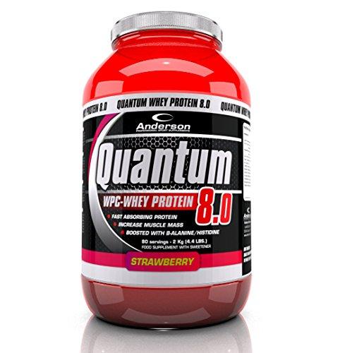 Integratore Anderson Quantum 8 Proteine del siero Whey Protein WPC 80% + Beta Alanina, vitamine 800g Fragola
